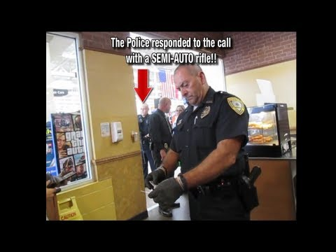 Open Carry Chicks Hassled by Power Hungry Cop & AR-15