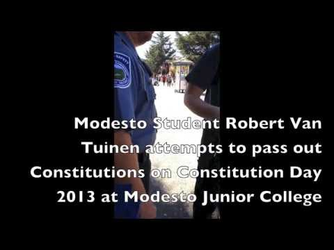 Student Banned from Handing Out Copies Of The Constitution on Constitution Day at Modesto Junior College