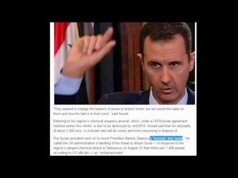 Assad We have weapons that could blindside Israel.