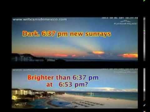 Nibiru Dark Star makes a brighter Sky After Sunset in Mexico