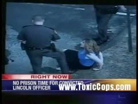 Police Brutality: Lincoln officer avoids prison for kicking woman!