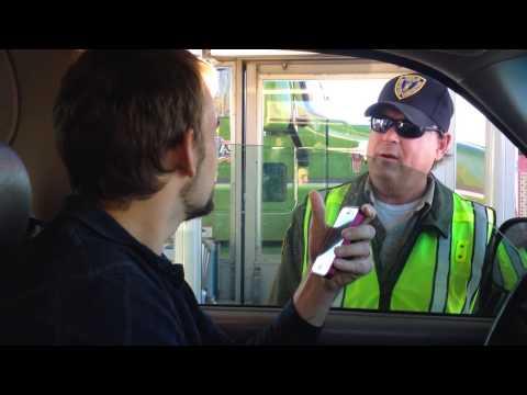 Refusing the California Fruit Nazi Checkpoint & Driving Away.