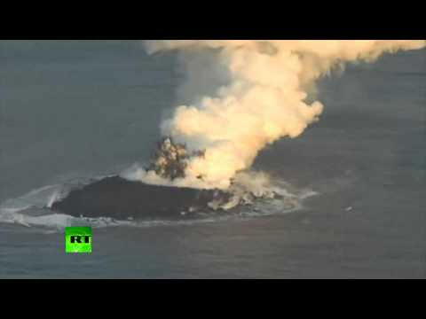 Volcanic eruption in Japan gives birth to new island