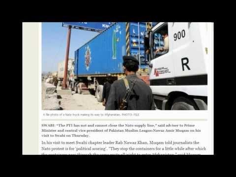 (Pakistan) PTI Threaten to close Nato supply line over drone attacks.. 11/29/2013