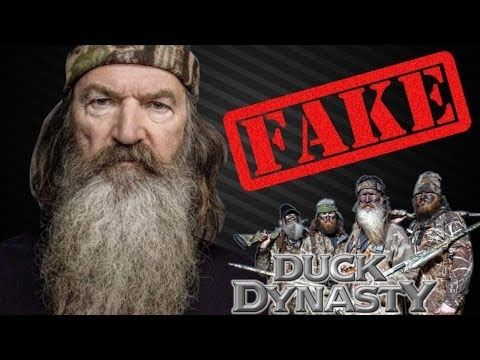 Duck Dynasty Is Fake!