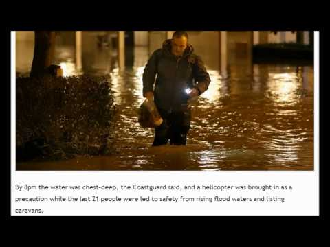 UK Thousands evacuated, homes without power. December 25, 2013