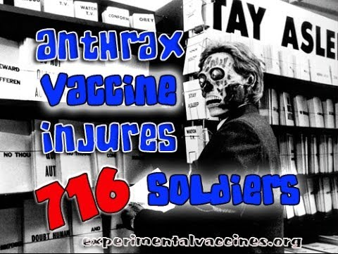 Government Admits Anthrax Vaccine is Poison