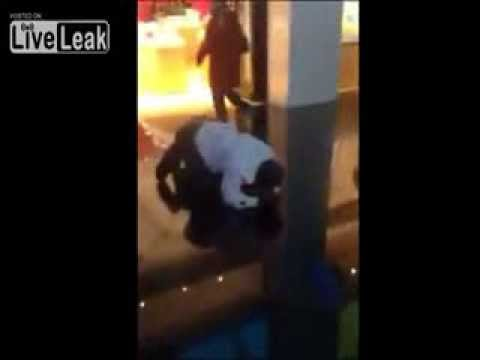 Knockout Game FAIL!! Guy Hits Girl and Gets KNOCKED OUT!!
