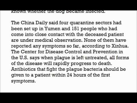 Chinese town of 30,000 sealed off after death from pneumonic plague