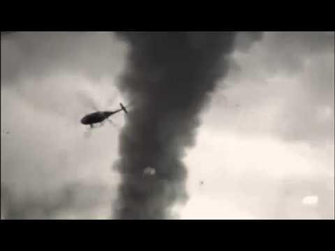 Helicopter VS Tornado Helicopter Sucked into Tornado