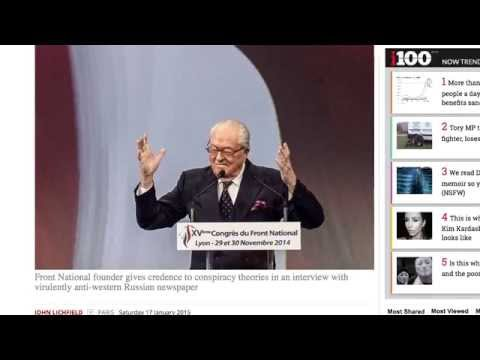 Jean-Marie Le Pen says French terror attacks were work of Western intelligence