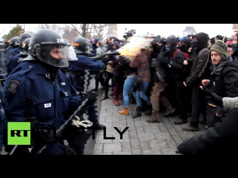 Canada cops unleash tear gas at close range on anti-austerity protesters in Quebec