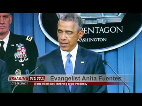 Obama slips on Live TV Briefing 7.6.15 says U.S. Forces Training ISIL