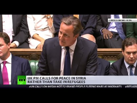 Cameron calls for peace in Syria rather than take in refugees