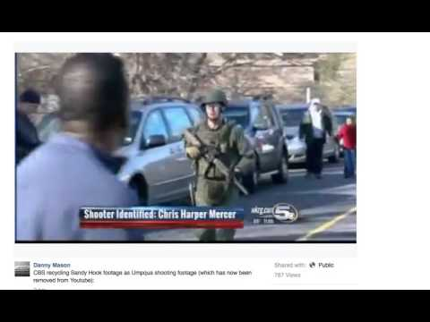 UNBELIEVABLE! MSM Using SANDY HOOK FOOTAGE AGAIN for Oregon Shooting Hoax