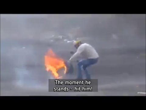 Israeli Forces Duck Shooting Palestinian Demonstrators, Using Live 0.22 Caliber Ammo