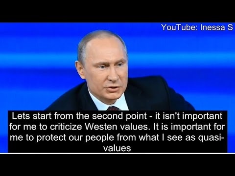 Putin: the West has no morals
