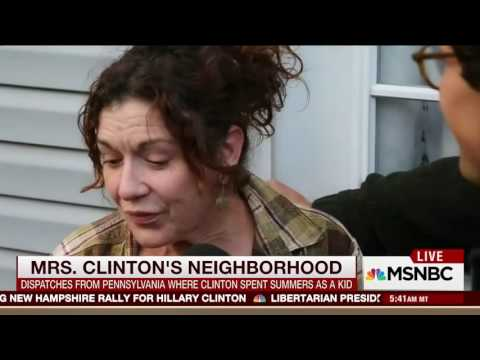 MSNBC interviews Hillary's childhood neighborhood in PA and almost everybody is voting for Trump and a few are voting for Jill Stein