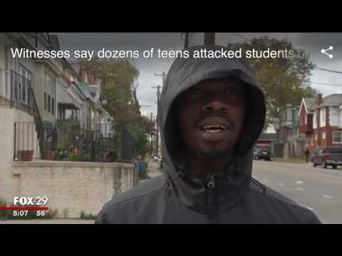 More black teenagers beat up more white kids in Philadelphia   for no reason what so ever