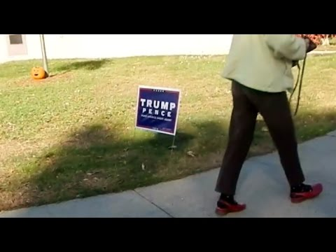 Hillary Voter At Connecticut Polling Location Gets Triggered - #Trump