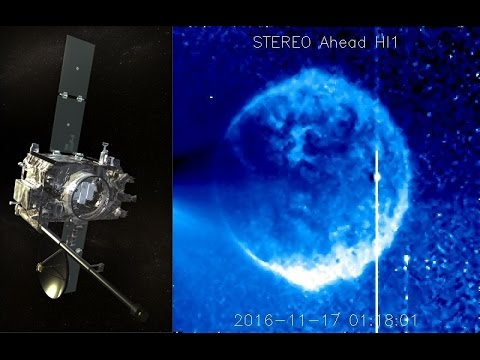 Huge object is captured on NASA'S SECCHI STEREO HI1 satellite today