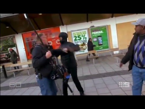 Migrants in Sweden viciously attack CBS Camera Team while Recording, punch, kick Reporters & Crew