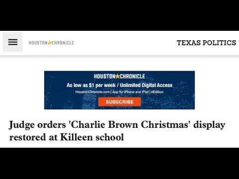SR 1402 –  Texas Judge Orders Charlie Brown Christmas Display Reinstated