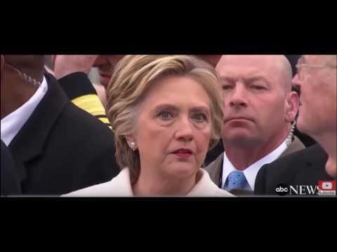 Hillary Clinton's body language of Trump Inauguration