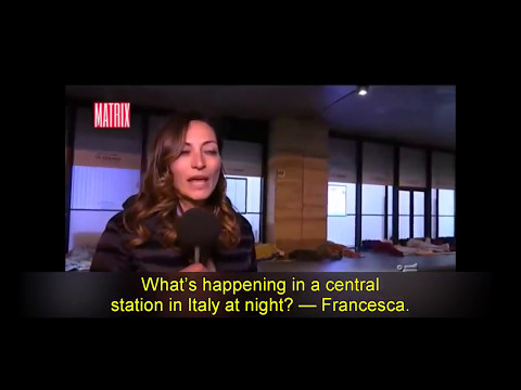 Female news anchor attacked while reporting on migrants sleeping in the Rome train station