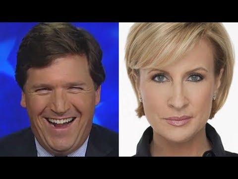 Tucker Carlson Laughs At Mainstream Media Imploding At Trump's Mika Brzezinski Tweet