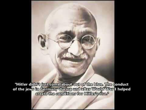 Gandhi Speaks on Jews And Hitler