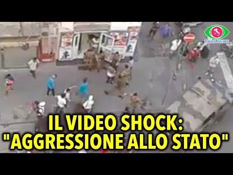 Immigrants attack Italian Army