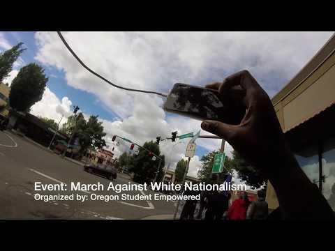 Tranny ANTIFA member assaults cameraman; immediately regrets it