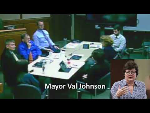 New Brighton, MN Mayor Val Johnson literally shaking because of white privileged denier