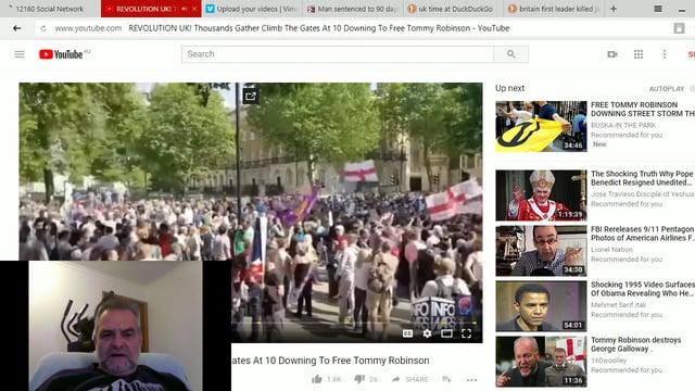 Tommy UK Arrest Protest