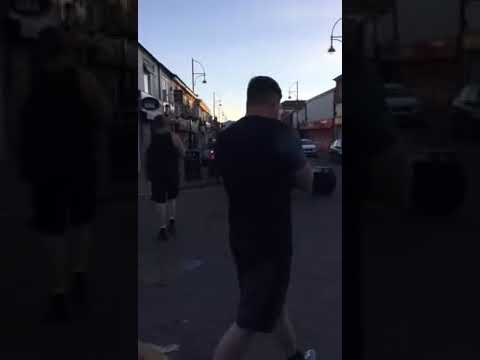 2018 Heroic English Patriots destroy chicken shop in Stockport linked to muslim child rape gang