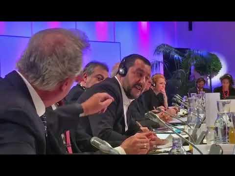 Matteo Salvini VS Jean Asselborn (ministro lussemburghese) (14/09/2018)
