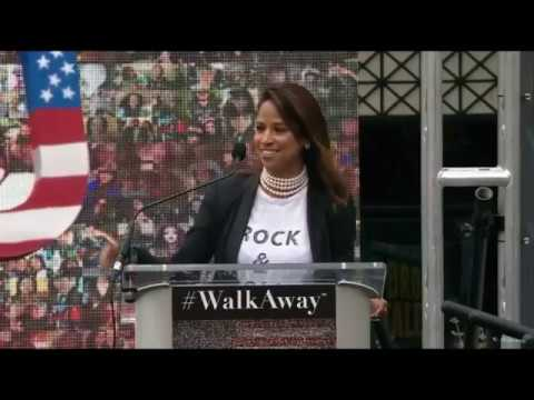 "#WalkAway March - (Totally hot) Stacey Dash ""What God wants for you, no man can take from you"""