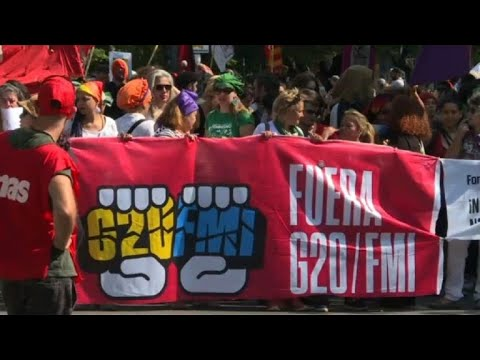 Argentinians protest against the G20 in Buenos Aires