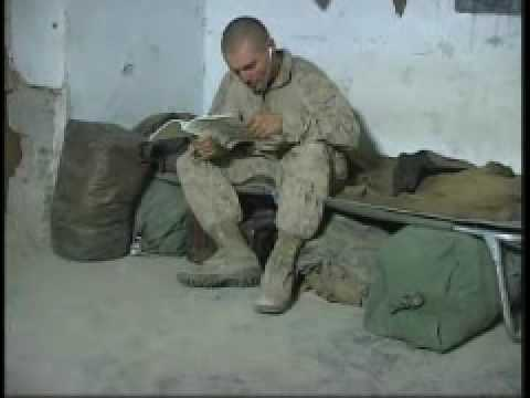 Combat Camera Video: Marine Life on a Combat Outpost in Afghanistan B-Roll