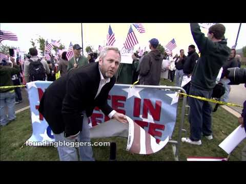 Andrew Breitbart Confronts Hateful Protesters At Right Nation 2010