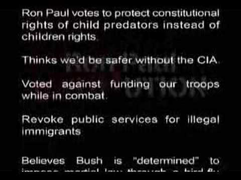 Reasons NOT to vote for Ron Paul.