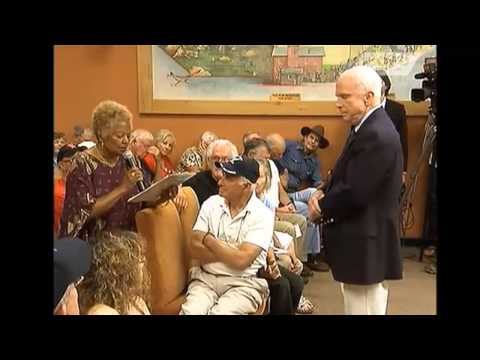 "John McCain ""intimidated"" by African-American woman at town hall meeting"