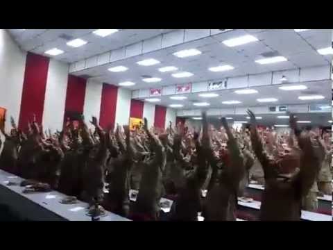 "US MARINES Singing ""Days of Elijah"""