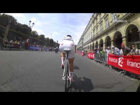 On bike camera Marianne Vos - La Course