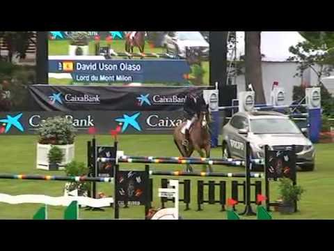 David Usón - Lord Du Mont Milon - Ganadores de la grande CSI2* Longines Global Champions Tour -2015