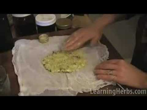 Herbal plaster: Garlic cough remedy