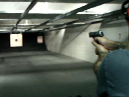 My dad shooting S&W .40 Cal.