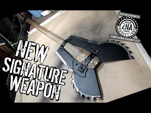 How to Make: The Vulture (Double Bladed Saw Blade Battleaxe)