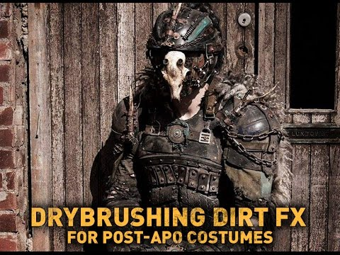 Drybrushing dirt effects for post-apo costumes / Guest episode by Erik